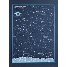 Northern Hemisphere Star Chart Print - 8x10