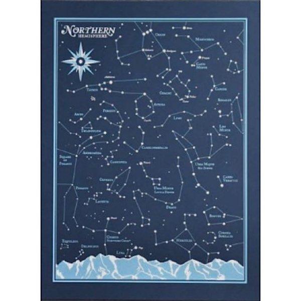Northern Hemisphere Star Chart Print 8x10 Jpg