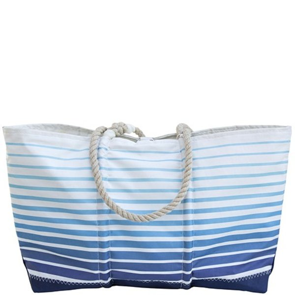 Sea Bags Custom Daytrip Society Ombre Stripe Tote - Hemp Handle White Whipping - Large