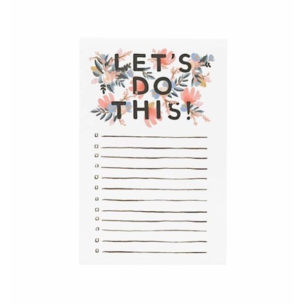 Rifle Paper Co. Notepad - Let's Do This