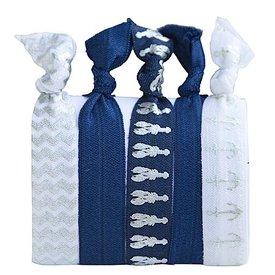 Hair Ties Set of 5 - Silver Lobster