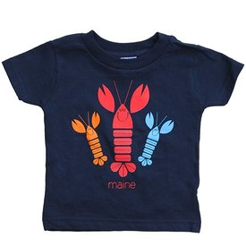 Woods & Sea Happy Lobsters Tee Mill Dyed