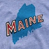 Maine State T-Shirt - Heather Grey