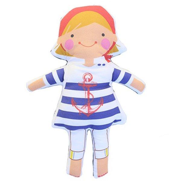 Sophie & Lili Kennebunkport Custom Doll Handkerchief Blonde - Anchor Dress