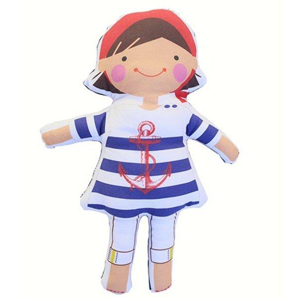 Sophie & Lili Kennebunkport Custom Doll Handkerchief Brunette - Anchor Dress
