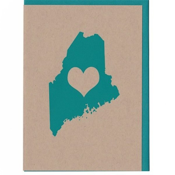 ThinkGreene Maine Love Card - Turquoise