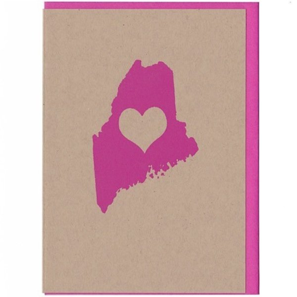 ThinkGreene Maine Love Card - Pink