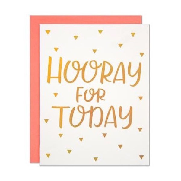 Parrott Design Card - Hooray For Today