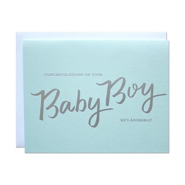 Parrott Design Card - Baby Boy