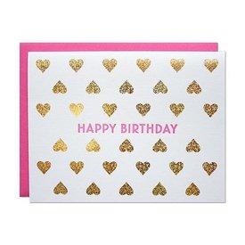 Parrott Design Card - Birthday Heart
