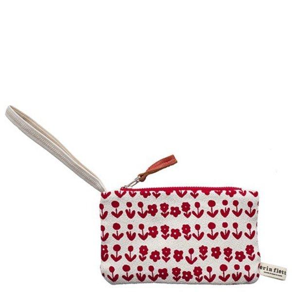 Erin Flett Bark Cloth Wristlet Zipper Pouch