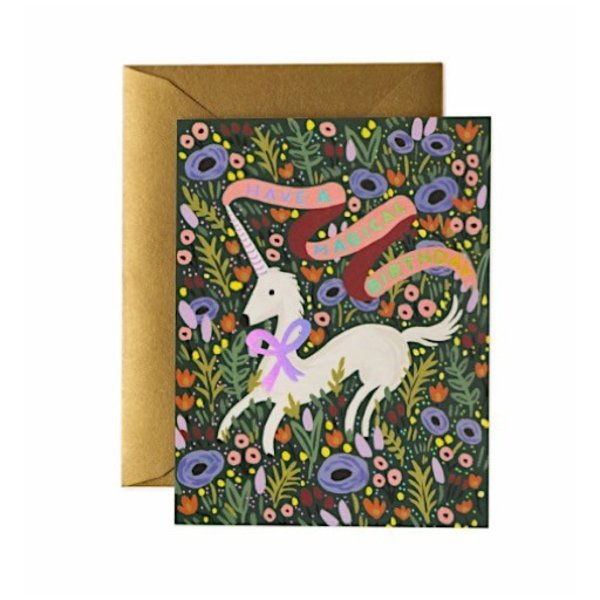 Rifle Paper Co. Card - Magical Birthday Unicorn