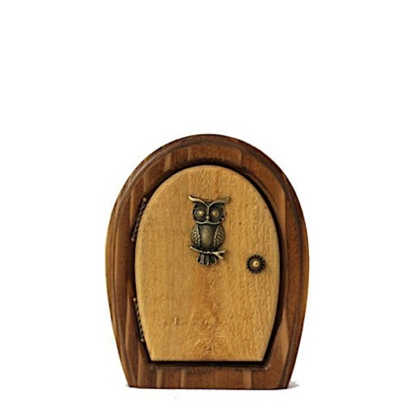 Enchanted Owl Sprite Fairy Door for Home and Garden