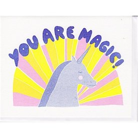 Yellow Owl Workshop Card - You Are Magic