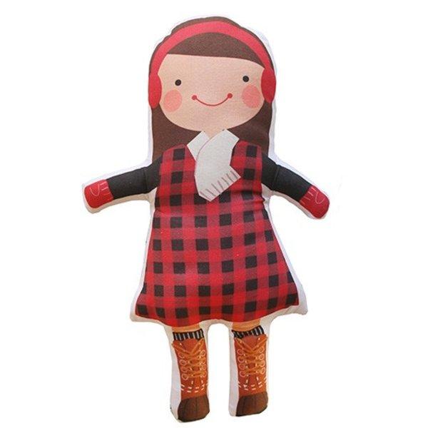 Sophie & Lili Kennebunkport Custom Doll Earmuff Brunette - Lumberjack Dress