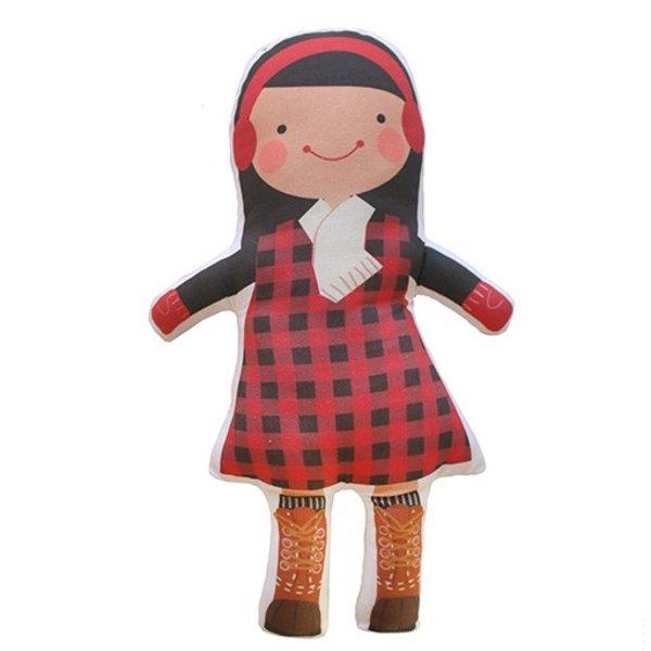 Sophie & Lili Kennebunkport Custom Doll Earmuff Black Hair - Lumberjack Dress