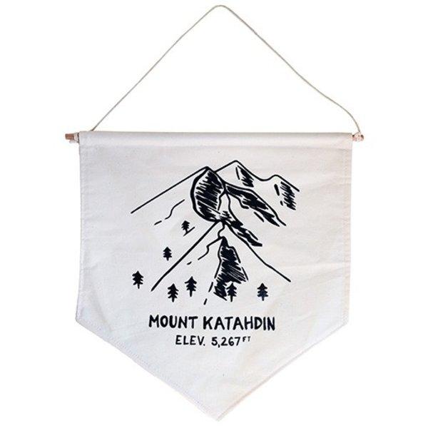 Hills & Trails Screen Print Banner - Mount Katahdin