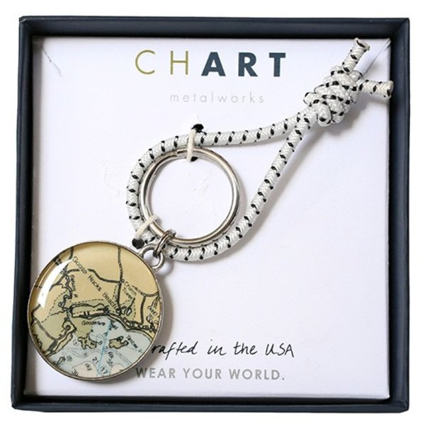 Chart Metalworks Key Ring Goose Rocks Beach Pewter Jpg