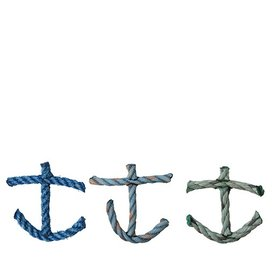 Cape Porpoise Trading Co. Recycled Rope Ornament - Anchor - Asst. Ocean