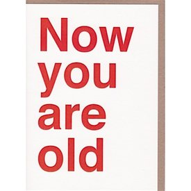Sad Shop - Now You Are Old Card