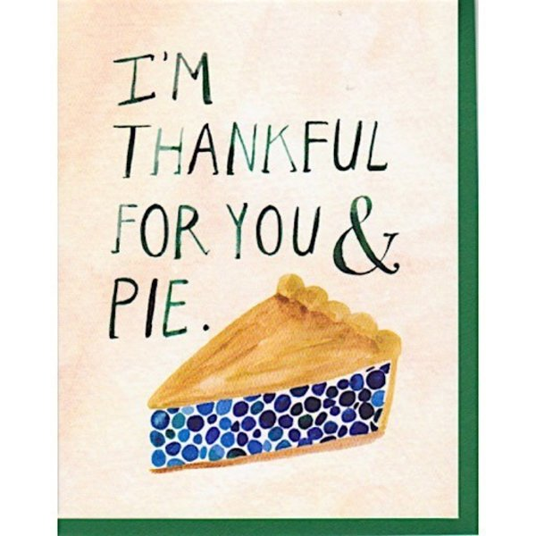 Hoopla Love Thankful For You and Pie Card
