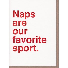 Sad Shop - Naps Are Our Favorite Sport Card