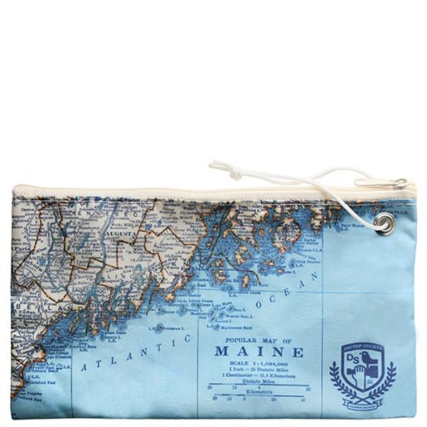 Sea Bags Custom Daytrip Society Maine Map Wristlet