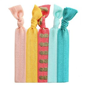 Hair Ties Set of 5 - Don't Worry Be Happy