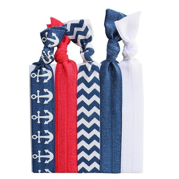 Hair Ties Set of 5 - Nautical