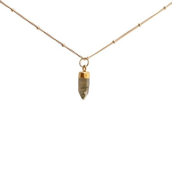Emma Alexander Necklace - Gemstone Labradorite - 16in 14K Gold-Fill