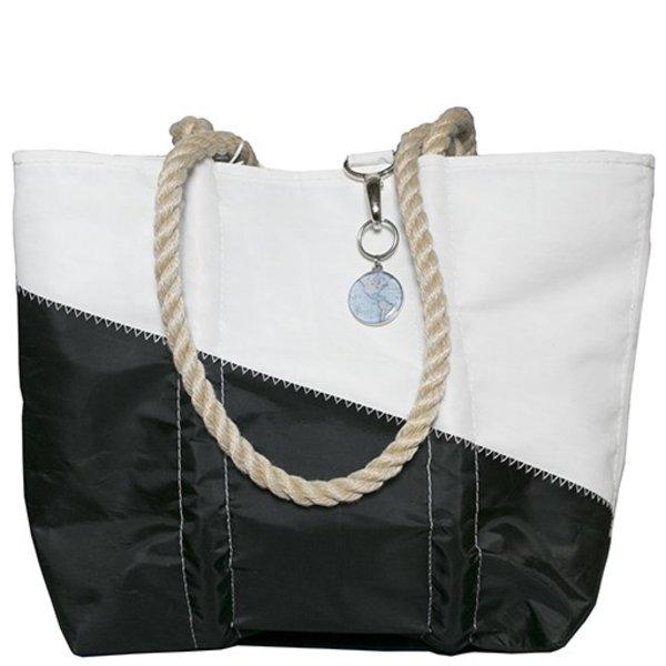 Sea Bags Custom Daytrip Society World Map Handbag Tote - Hemp Handle - Small