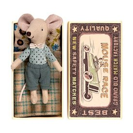 Maileg Mouse - Big Brother in Box - Polka Dot Shirt/Bow Tie