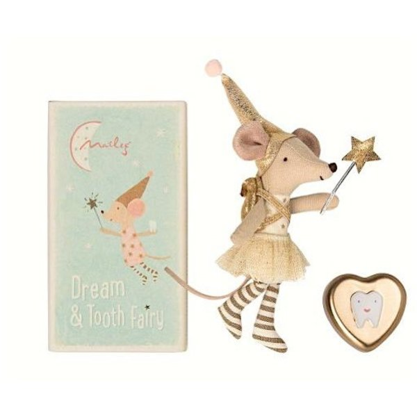 Maileg Mouse - Big Sister in Metal Box - Tooth Fairy