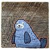 Mermaid Meadow Barnboard Seal - 4x4