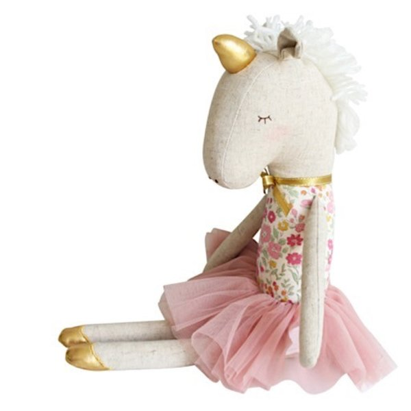 Alimrose Yvette Unicorn Doll - Rose Garden