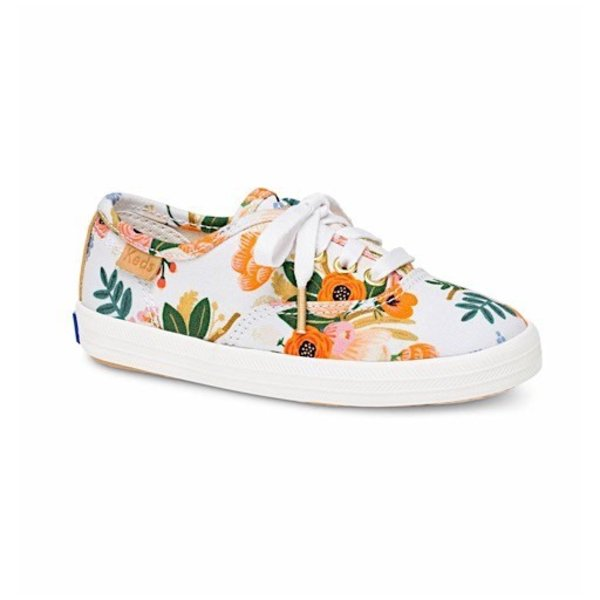 KEDS Little Kid + Rifle Paper Co. Champion Lively White - SALE 30% OFF