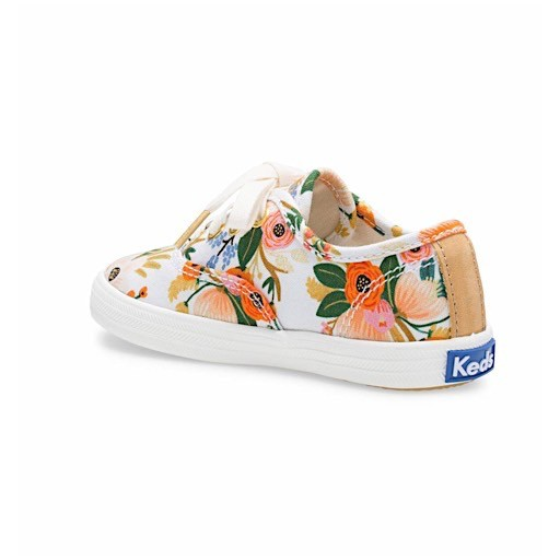 194f103edf266 KEDS Little Kid + Rifle Paper Co. Champion Lively White - SALE 30% OFF
