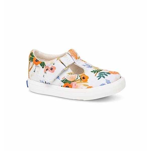 KEDS Little Kid + Rifle Paper Co. Daphne Lively White