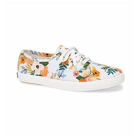 KEDS Big Kid + Rifle Paper Co. Champion / Lively White - SALE 30% OFF