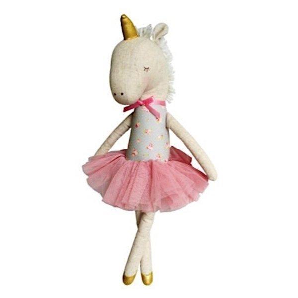 Alimrose Yvette Unicorn Doll - Blush & Gold