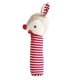 Alimrose Rudolph Reindeer Squeaker - Red Stripe