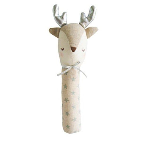 Alimrose Reindeer Squeaker - Silver Star
