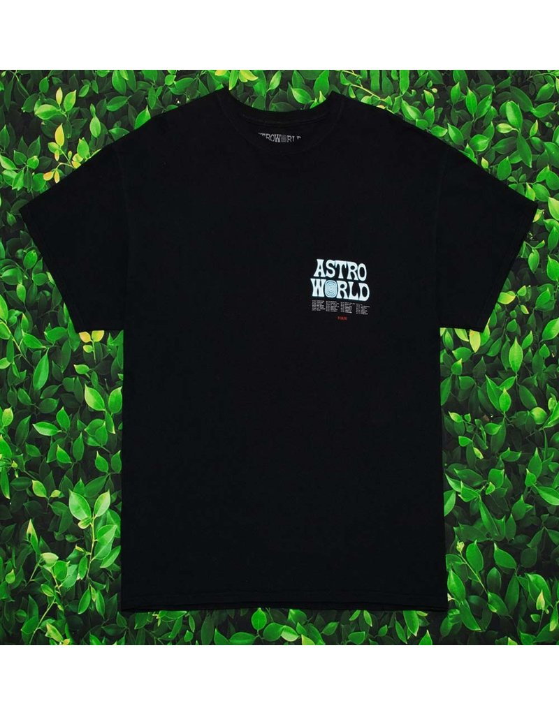 AstroWorld ASTROWORLD WISH YOU WERE HERE TEE BLACK