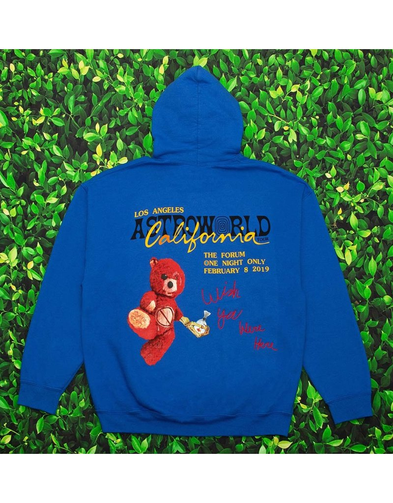 AstroWorld ASTROWORLD CALIFORNIA TOUR 2019 BLUE HOODIE