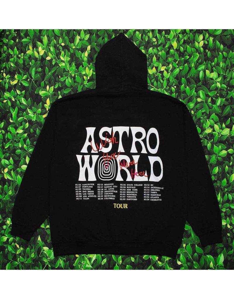 AstroWorld ASTROWORLD TOUR WISH YOU WERE HERE HOODIE BLACK XL