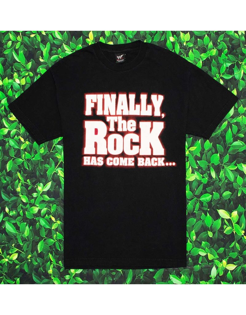 VINTAGE FINALLY THE ROCK HAS COME BACK  TEE