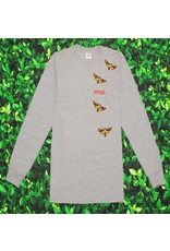 Supreme SUPREME DEATH MOTH LONG SLEEVE GREY TEE