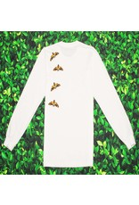 Supreme SUPREME DEATH MOTH LONG SLEEVE WHITE TEE