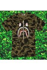 Bape 1st CAMO SHARK TEE GREEN/CAMO