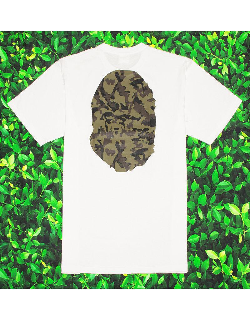 Bape GREEN CAMO APE HEAD TEE